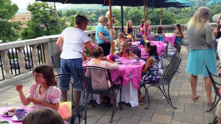 Fancy Tea Party on Library Terrace