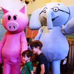 Elephant & Piggie visit friends at the library!