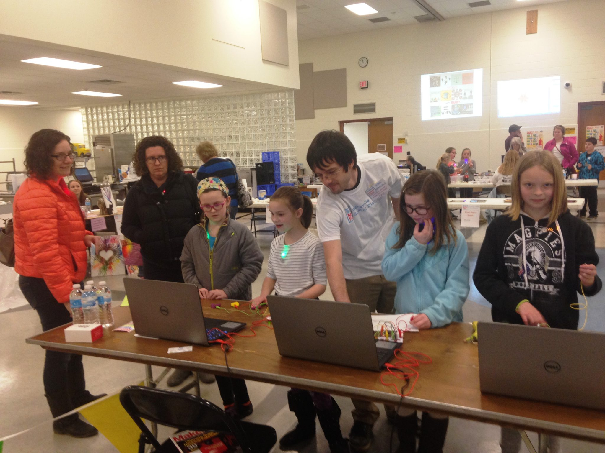 Tinkering with our Makey Makeys at the 2016 WCSD Maker Faire