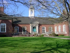 Library Front in Spring