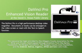 DaVinci Pro Enhanced Vision Reader