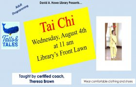 Tai Chi Class August 4th at 11 am