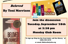banned books book club September 28th at 3:30pm