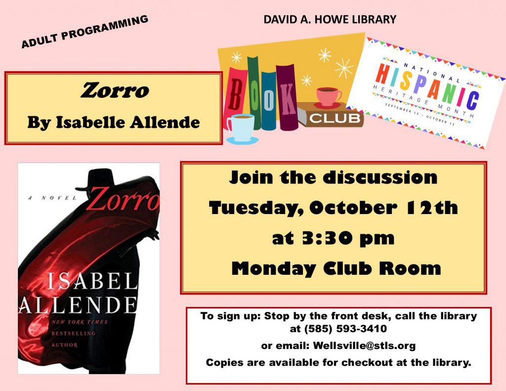 Hispanic Heritage Month Book Club